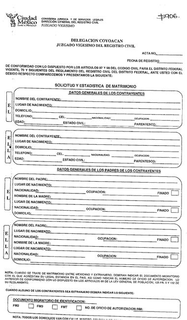 Matrimonio Catolico Registro Civil : Documentacion para registro civil df foro ceremonia