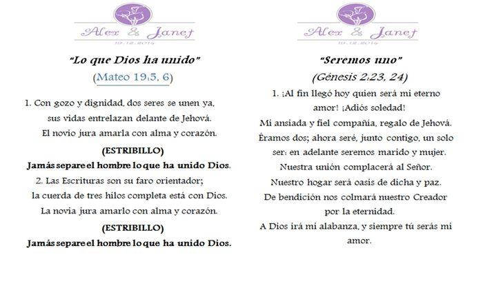 Matrimonio Catolico Y Testigo De Jehova : Cancionero foro ceremonia nupcial bodas mx
