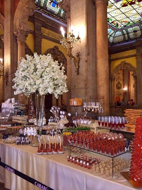 Mesa de dulces foro banquetes for Dulce boda