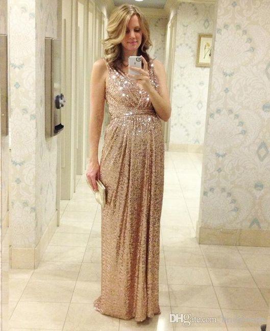 Vestido De Damas En Tono Rose Gold Foro Moda Nupcial