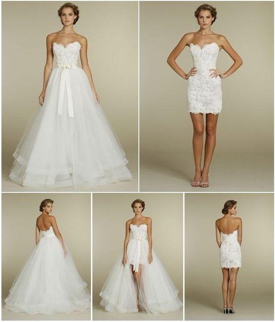 59228d206 Vestidos de Novia Desmontable - Foro Moda Nupcial - bodas.com.mx