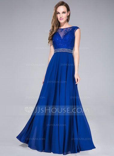 Vestidos de dama de honor azul rey
