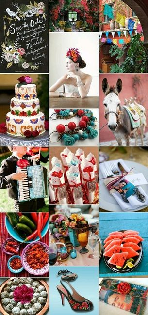 Matrimonio Tema Frida Kahlo : Boda estilo frida kahlo foro organizar una bodas