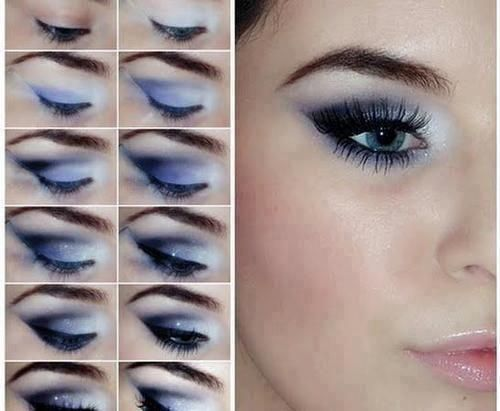 Como maquillar los ojos para un vestido azul