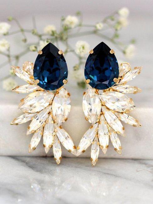 Aretes azules en tu boda 1