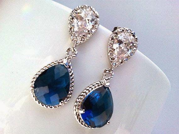 Aretes azules en tu boda 6
