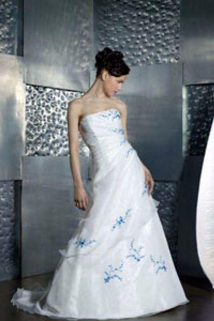 Vestido de novia color azul