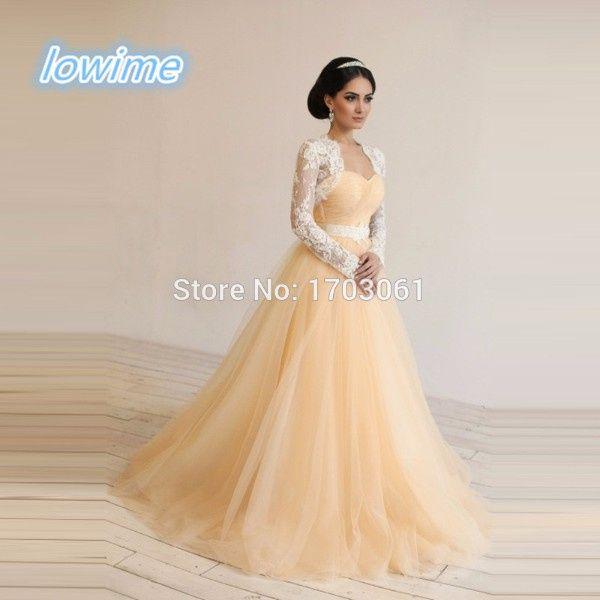 vestidos de novia color amarillo - foro moda nupcial - bodas.mx
