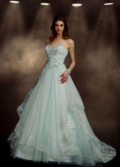 vestidos de novia color verde - foro moda nupcial - bodas.mx