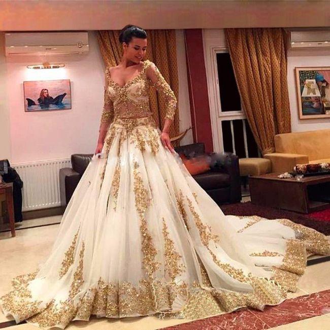Vestidos de novia color dorado