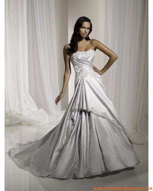 Vestidos para bodas color plata