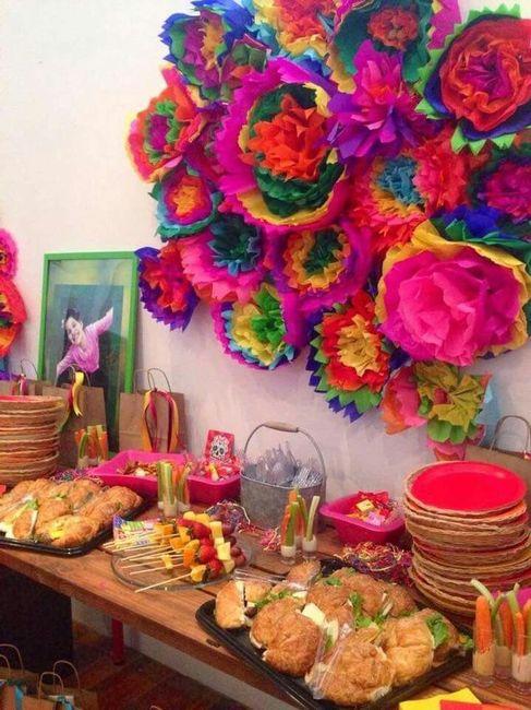 Decoraciones en papel crep foro manualidades para bodas for Decoracion navidena con papel
