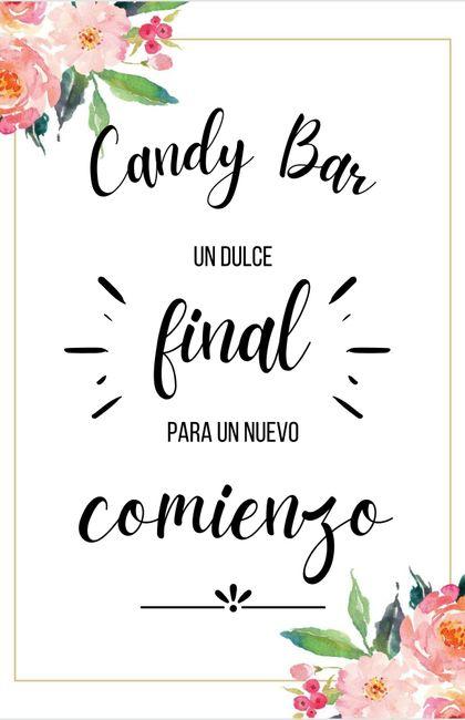 Letreros para Candy Bar 7