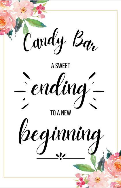 Letreros para Candy Bar 8