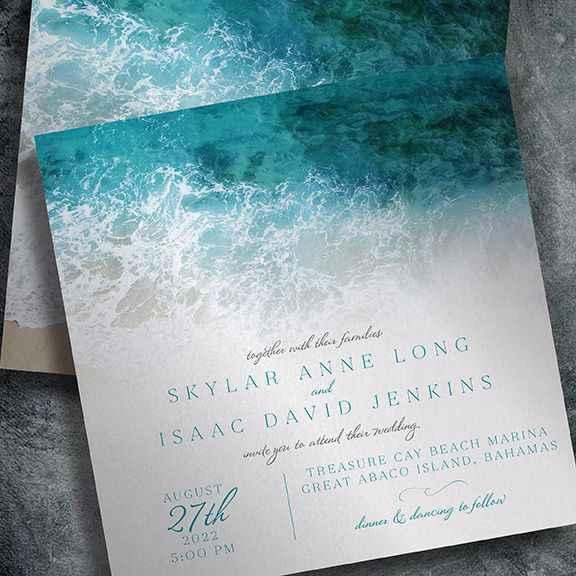 Necesito ideas para invitaciones para mi boda en playa. - 2