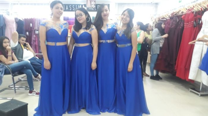 Damas De Honor En Color Azul Rey Foro Moda Nupcial