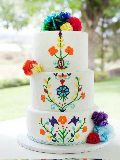 Pasteles para boda temática mexicana 1
