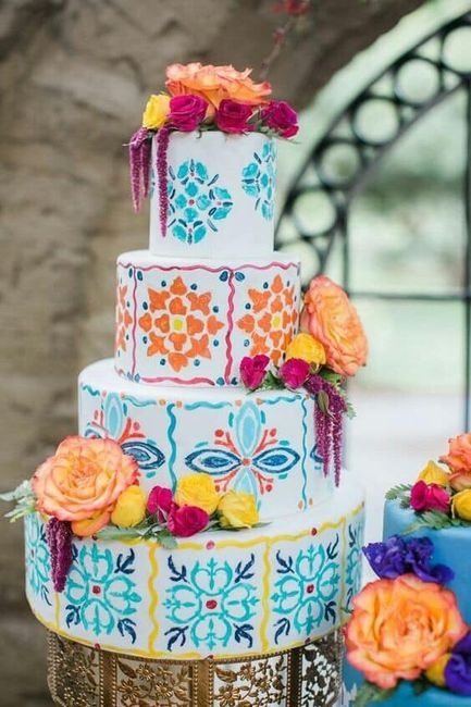 Pasteles para boda temática mexicana 2