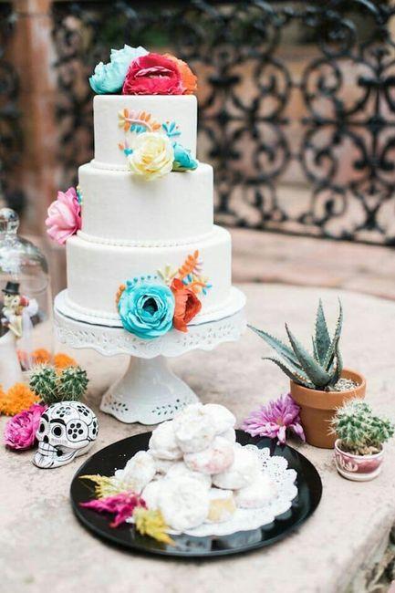 Pasteles para boda temática mexicana 3