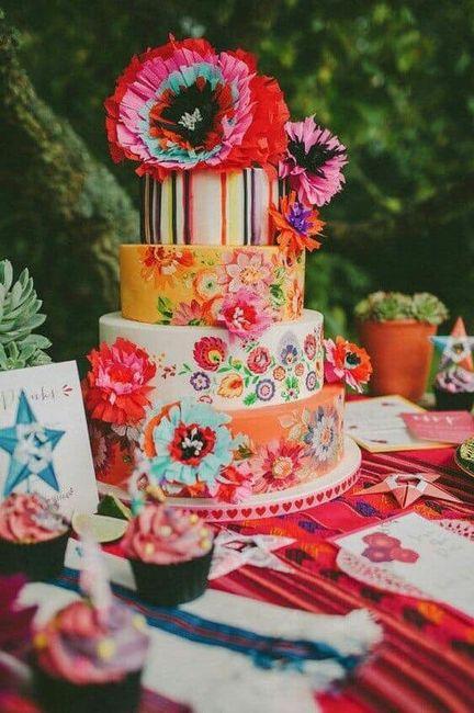Pasteles para boda temática mexicana 5