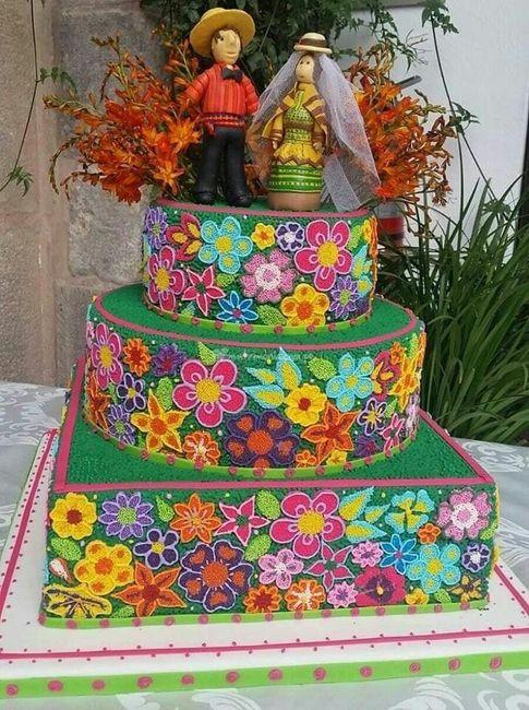 Pasteles para boda temática mexicana 7
