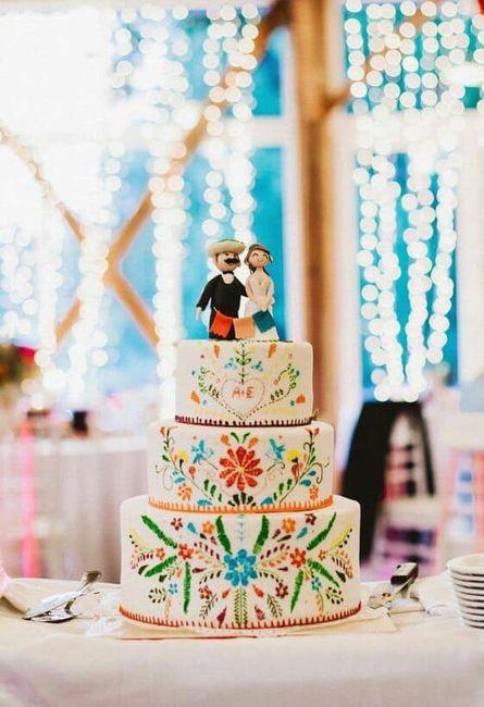 Pasteles para boda temática mexicana 13