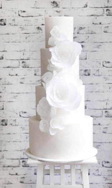 Pasteles de boda blancos 1