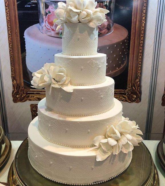Pasteles de boda blancos 2