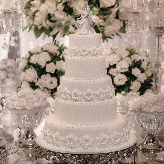 Pasteles de boda blancos 4