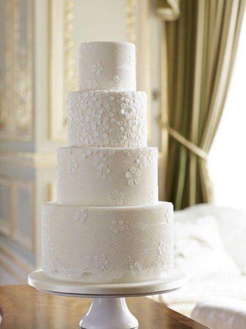 Pasteles de boda blancos 7