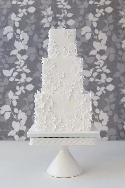 Pasteles de boda blancos 11