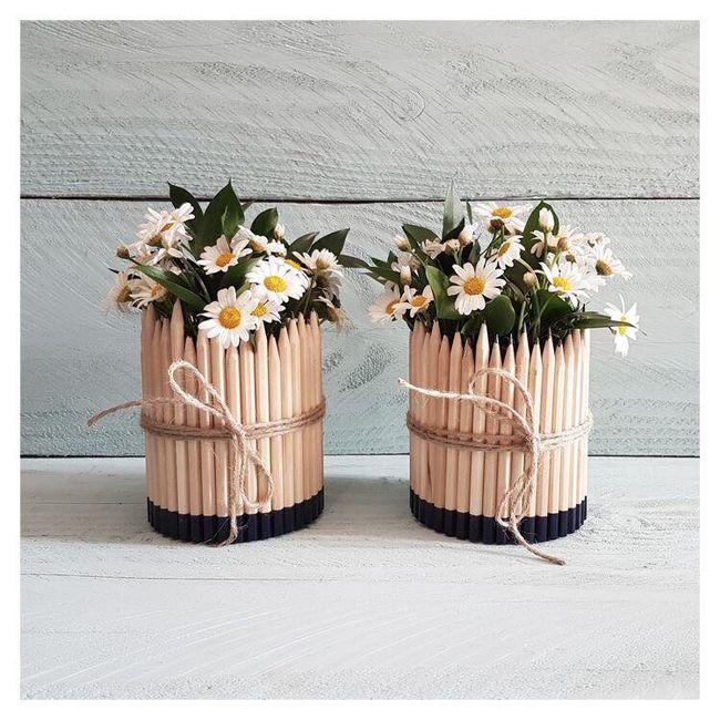 Floreros con palitos de paleta 4