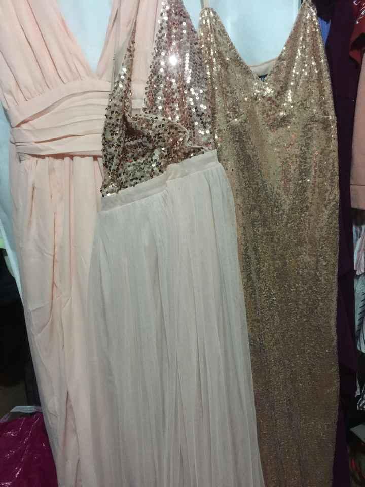 Vestidos de las damas de honor - 1
