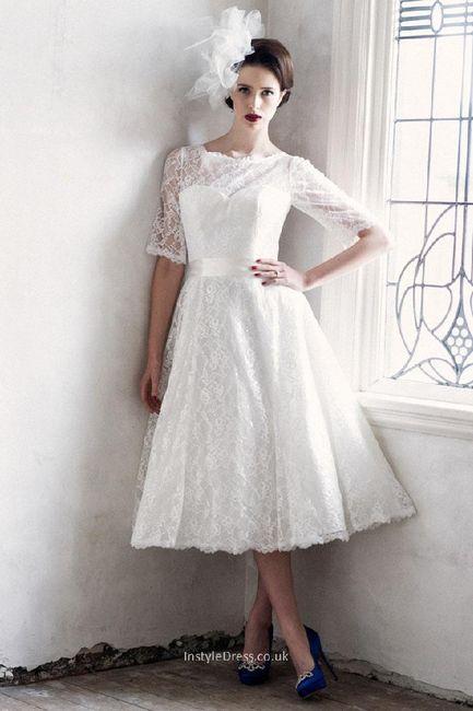 Vestidos de novia cortos pin up