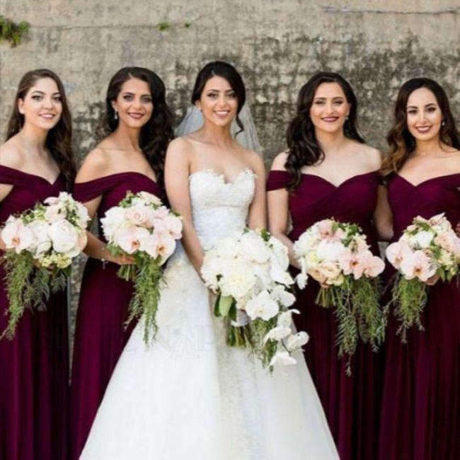 El tema de boda y color para las madrinas 1
