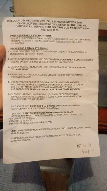 Requisitos para el civil - Foro Nuevo León - bodas.com.mx