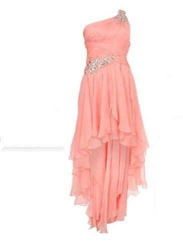 Vestido de novia civil color coral