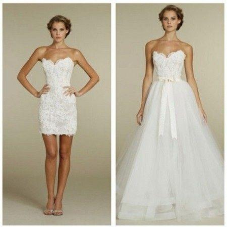 vestidos de novia desmontables - foro moda nupcial - bodas.mx