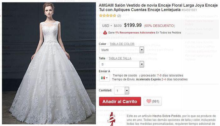 7f76f1a9ee Alguien compro su vestido por internet  (2016vestidos