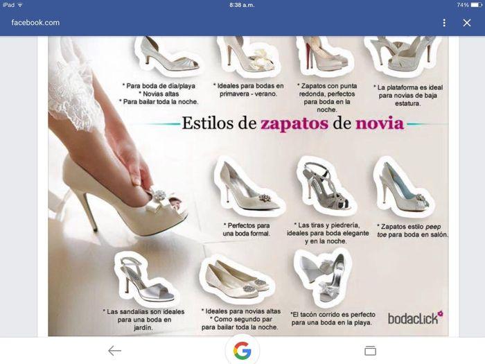 estilos de zapatos - foro moda nupcial - bodas.mx