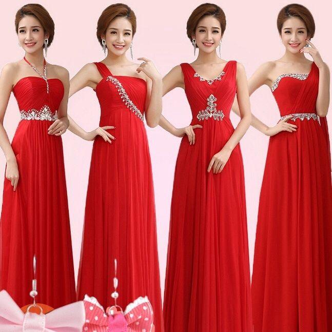 Vestidos rojos para dama de boda
