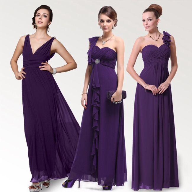 Vestidos para sus damas en color morado - Foro Moda Nupcial - bodas ...