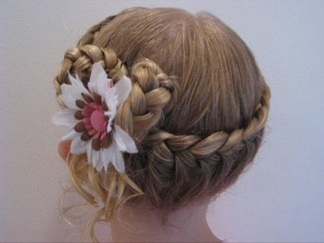 Peinados para boda para ninas