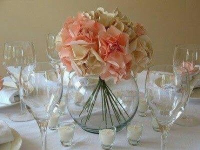 Centros de mesa con peceras foro manualidades para bodas - Centros de mesa con peceras ...
