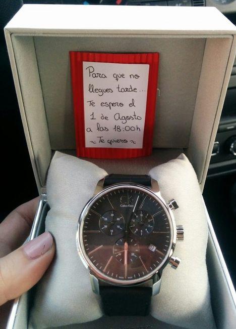 Novio: Sabías de la tradición del reloj de compromiso?? 2