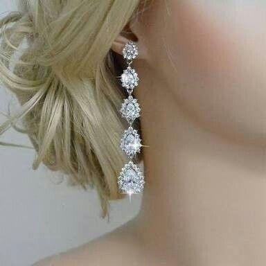 577268f0cb16 Accesorios  aretes para la novia - Foro Moda Nupcial - bodas.com.mx