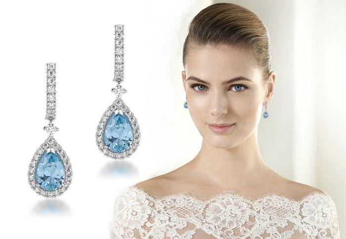 a2552272f577 Accesorios  Aretes para la novia (el algo azul) - Foro Moda Nupcial ...