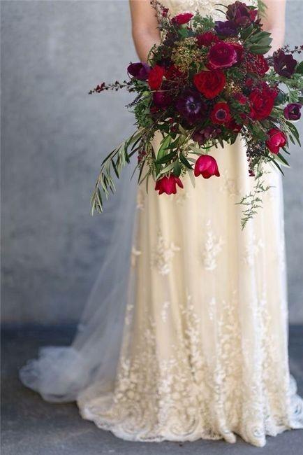Ramos de novia en tonos rojo❤ 3
