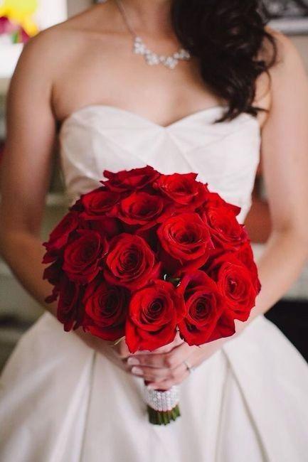 Ramos de novia en tonos rojo❤ 4