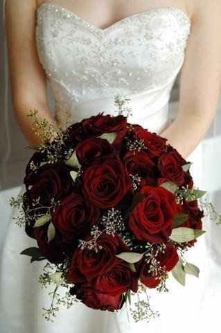 Ramos de novia en tonos rojo❤ 8